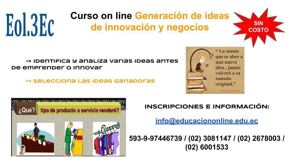 Curso de ideas de negocio